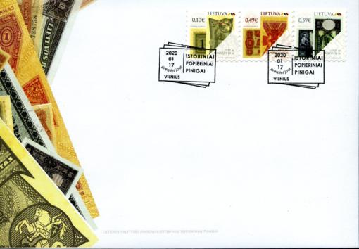 Išleidžiama pašto ženklų serija, skirta Lietuvos istoriniams popieriniams pinigams