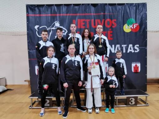 """Garliavos karatė klubo """"Budo"""" sportininkai – tarp stipriausiųjų Lietuvoje"""