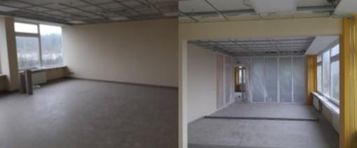 Atnaujinamos Kaišiadorių Vaclovo Giržado progimnazijos patalpos