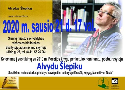 Kviečiame į susitikimą su poetu Alvydu Šlepiku!