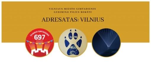 """Vilniaus miesto gimtadienis Gedimino pilies bokšte – """"Adresatas: Vilnius"""""""