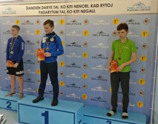 Šiaulių plaukikai iškovojo medalių Lietuvos pirmenybėse
