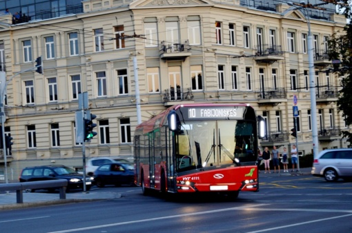Keisis kai kurių sostinės viešojo transporto maršrutų trasos ir tvarkaraščiai