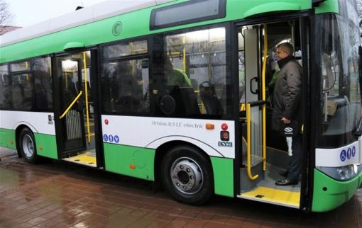 Tauragiškiai važiuos naujausios kartos ekologišku elektriniu autobusu