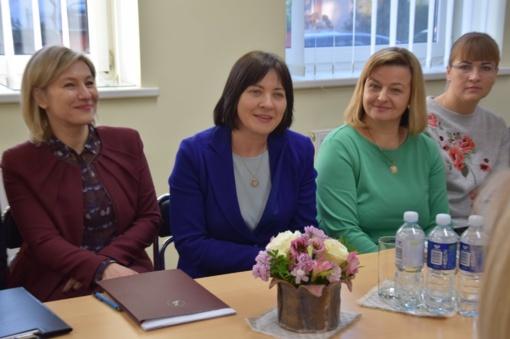 Vilkaviškyje lankėsi Vaiko teisių apsaugos kontrolierė Edita Žiobienė