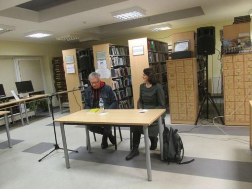 Miesto bibliotekoje – susitikimas su  poetu Alvydu Šlepiku