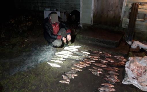 Neteisėta žvejyba Rokiškio rajone – žala aplinkai siekia beveik 4 500 Eur
