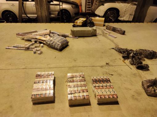 Padėti sustoję muitininkai sulaikė cigarečių kontrabandą gabenusį Rusijos pilietį
