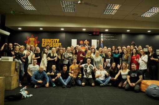 SunCity CrossFit klubo 3-iąjį gimtadienį sportininkai švenčia liedami prakaitą