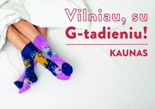 Vilniaus gimtadieniui Kaunas sukūrė progines kojines