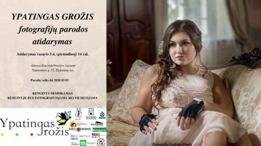 """Tarptautinio socialinio projekto """"Ypatingas grožis"""" fotografijų paroda Abromiškių reabilitacijos ligoninėje"""