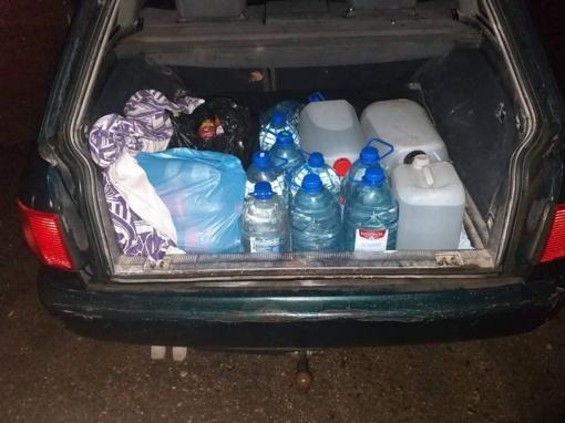 Kauno rajono gyventoja gabeno 126 litrus nelegalaus alkoholio