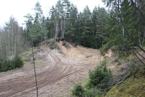 Gelbėdami pajūrį teršalus laidojo Laukžemės miške