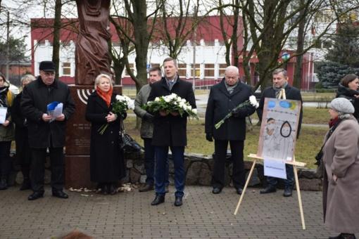 Panevėžyje pagerbtas Holokausto aukų atminimas