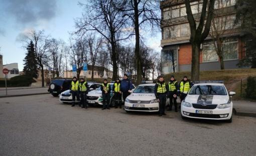 Utenos mieste ir apskrityje darbavosi bendras Lietuvos ir Latvijos kelių policijos patrulių būrys
