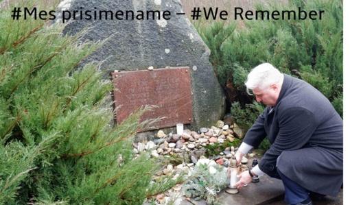 Biržuose pagerbtas holokausto aukų atminimas