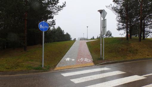 Mokyklas ir Liepų kvartalą sujungė patogus pėsčiųjų takas