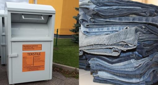 Dėvėtiems drabužiams – specialūs konteineriai