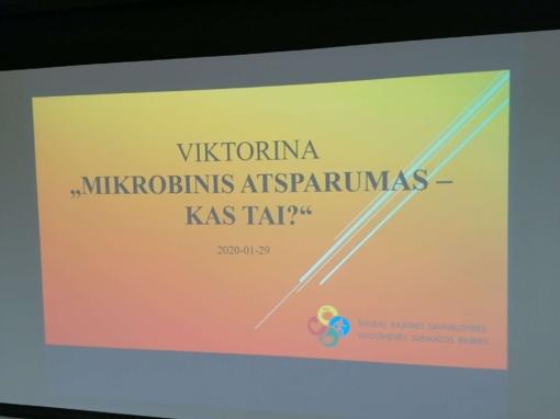 """Viktorina """"Mikrobinis atsparumas – kas tai?"""""""