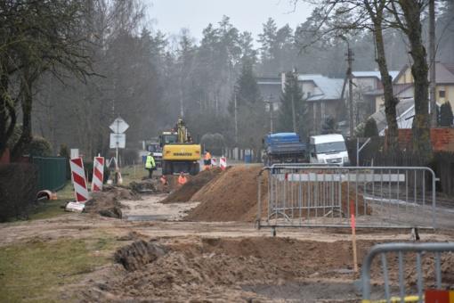 Vyksta Matuizų kaimo Statybininkų ir Dzūkų gatvių atnaujinimo darbai