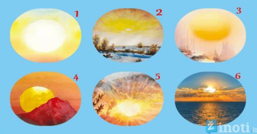 Testas: pasirinkta saulė atskleis, ar jus aplankys laimė