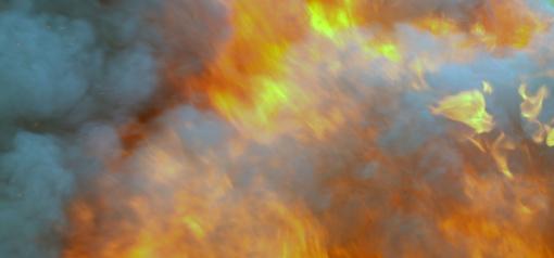 Per gaisrą gyvenamajame name nukentėjo žmogus
