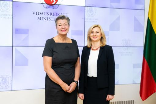 R. Tamašunienė susitiko su Europos Komisijos vidaus reikalų komisare