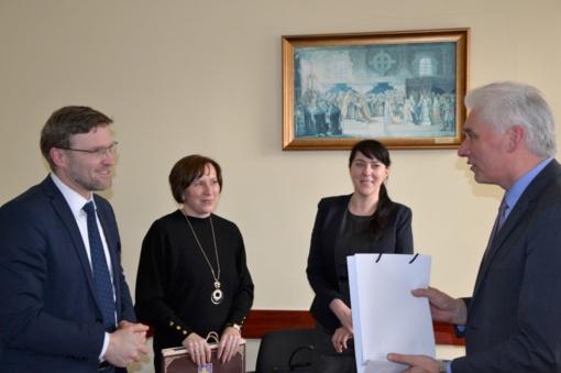 Ministras Linas Kukuraitis lankėsi Rietave