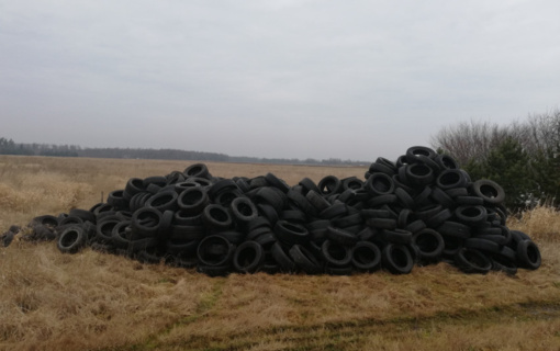Klaipėdos rajone – beveik 80 kubų naudotų padangų