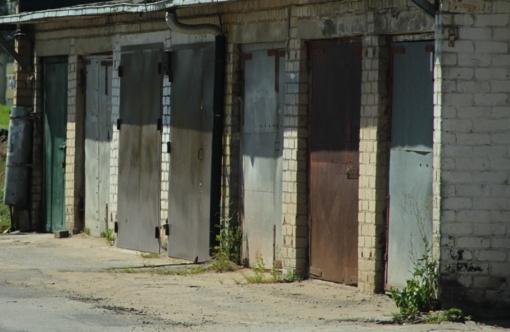 Kuršėnuose degė garažas