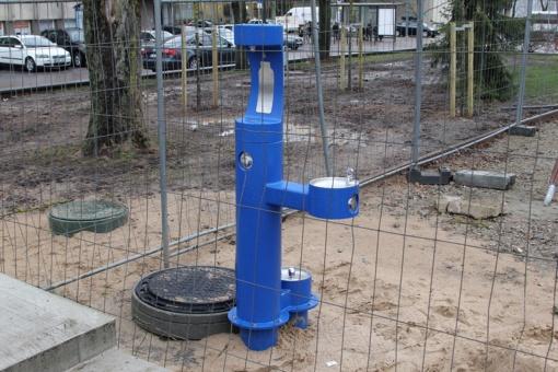 Prisikėlimo aikštėje įrengta geriamojo vandens vandenpylė