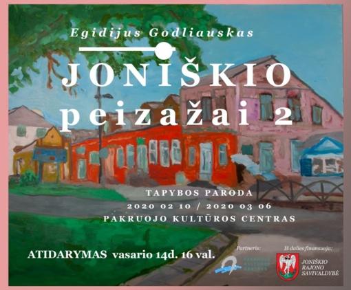 Kultūros centre vyks Egidijaus Godliausko tapybos darbų parodos atidarymas