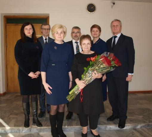 Išlydėta Utenos apylinkės teismo Zarasų rūmų teisėja Liudmila Kuzmickienė