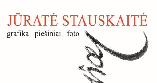 """Žinomos menininkės Jūratės Stauskaitės kūrybos parodos """"Judesiai. Grafika. Piešiniai. Foto"""" atidarymas"""