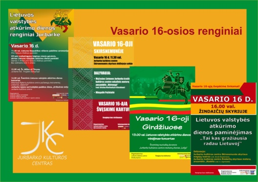 Vasario mėnesio renginiai Jurbarko kultūros centre