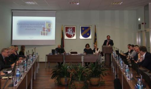 Taryba vienbalsiai patvirtino Elektrėnų savivaldybės 2019 metų veiklos ataskaitą ir 2020 metų biudžetą