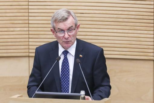 Seimo pirmininko sveikinimas Valstybės atkūrimo dienos proga