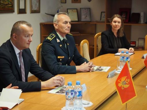 Aptartas Lietuvos ir Juodkalnijos bendradarbiavimas saugumo srityje