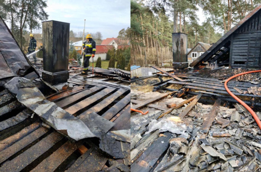 Ukmergėje degė namas