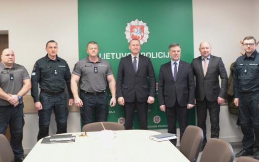 Ataskaitinis susirinkimas Molėtų rajono policijos komisariate