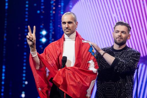 """Rekordinis """"Eurovizijos"""" atrankos finalo balsavimas: suskaičiavus vėlavusius žiūrovų balsus, nugalėtojai nesikeičia"""