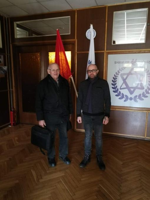 Šiaulių apskrities žydų bendruomenėje lankėsi garbingas svečias