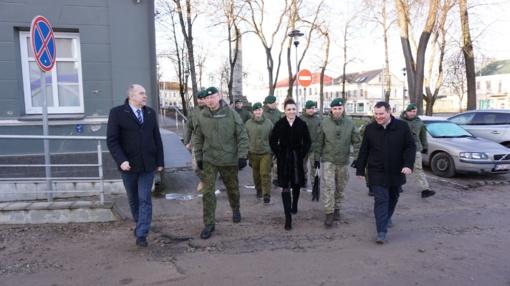 Susitikime su kariškiais daug kalbėta apie buvusį Ukmergės batalioną