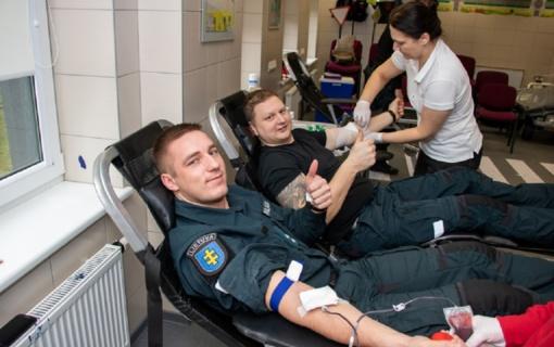 Klaipėdos apskr. VPK pareigūnai vėl aukojo kraujo