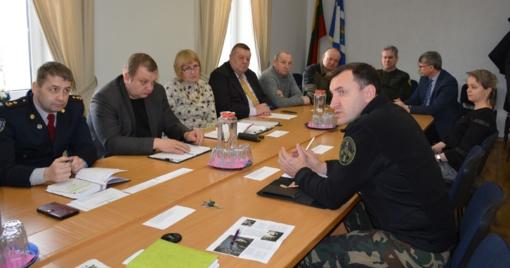 Posėdyje aptarta rajono civilinės saugos būklė bei galimų ekstremalių situacijų prevencija