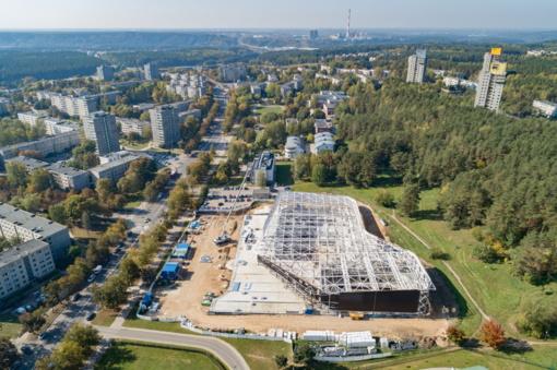 Vilniaus savivaldybė inicijuoja naują konkursą baigti Lazdynų baseino statyboms