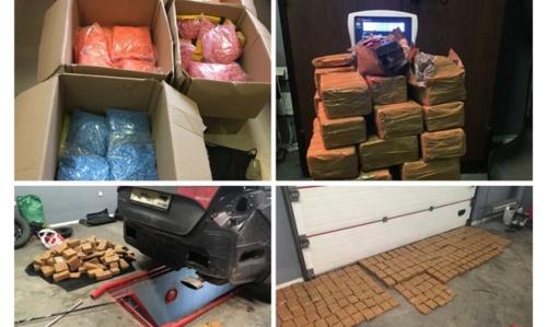 Pernai muitininkai sulaikė iš viso pusę tonos kontrabanda gabentų narkotikų