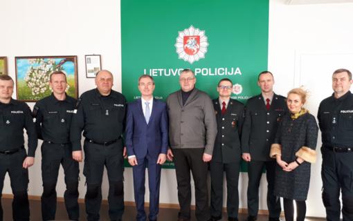 Ataskaitinis susirinkimas Ignalinos rajono policijos komisariate