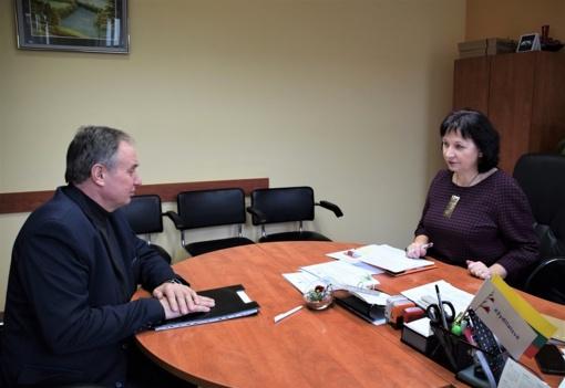 Metinis seniūnų veiklos aptarimas su administracijos direktore J. Zailskiene