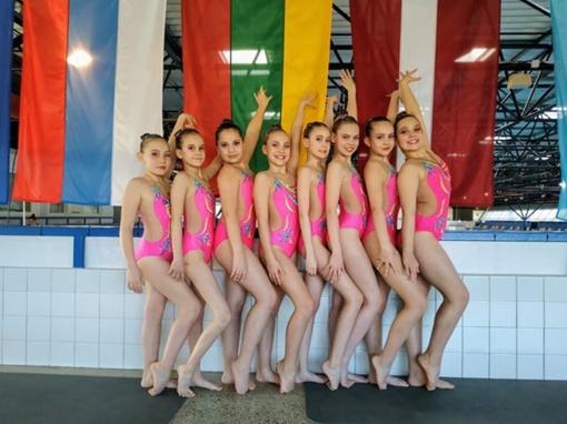 Šiaulietės pasirodė artistiško plaukimo čempionate Latvijoje